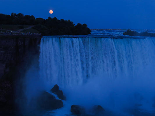 Super Moon over Niagara Falls
