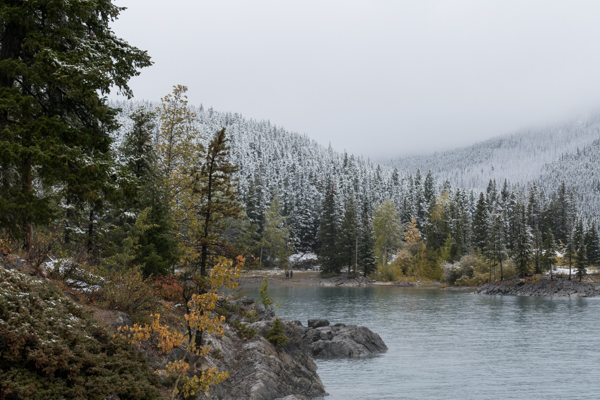 Fall snow over the Canadian Rockies